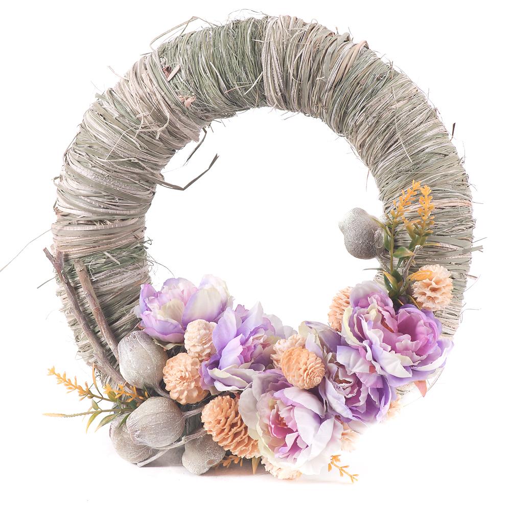 e2b10d745 Irigo zelený veniec fialové kvety | KVETY.sk