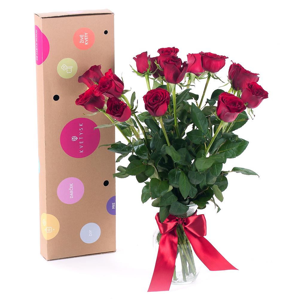 b838ac36b DIY kytica červené ruže do vázy | KVETY.sk