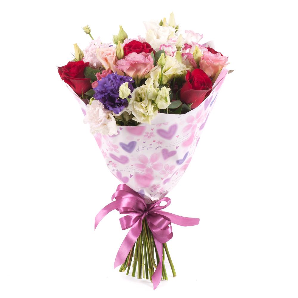 b5fd4fbd0 Sweet červené ruže a farebný lisiantus | KVETY.sk