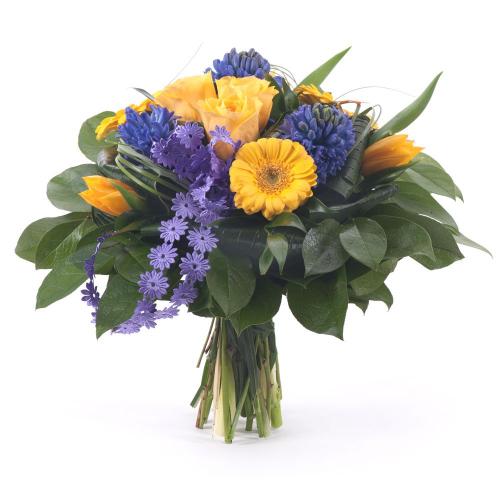 Elite žlté kvety a hyacinty