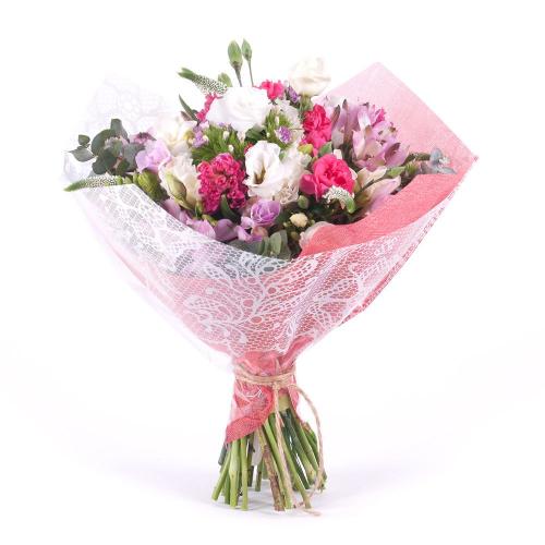 Sweet ružové alstromérie a karafiáty