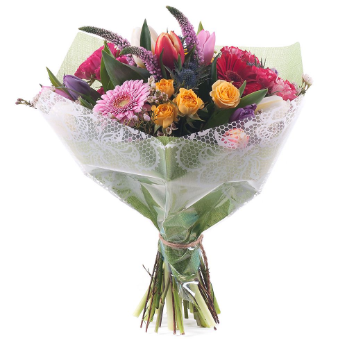 Sweet farebné ruže,gerbery a tulipány