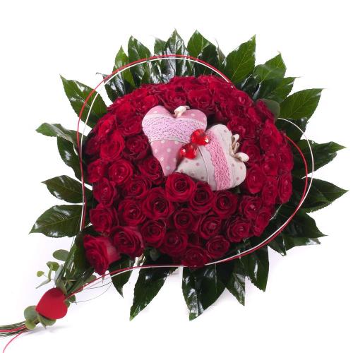 Srdce červené ruže srdiečka