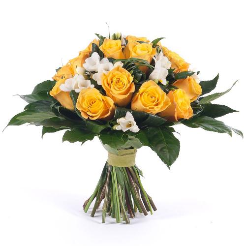 Elite žlté ruže a frézie