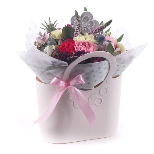 Flower bag farebné karafiáty