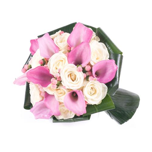 Lady biele ruže a kaly