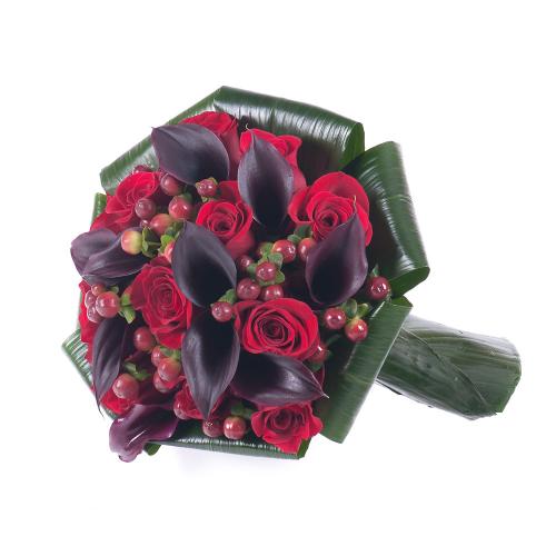 Lady červené ruže a kaly