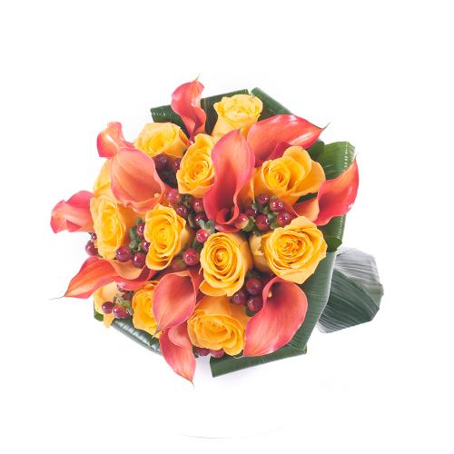 Lady žlté ruže a kaly