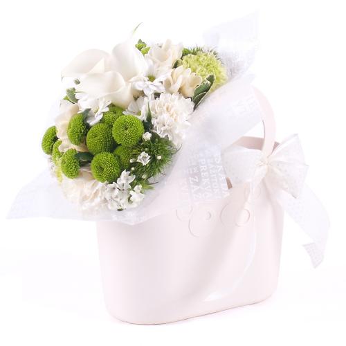 Flower bag kaly a zelené santíny