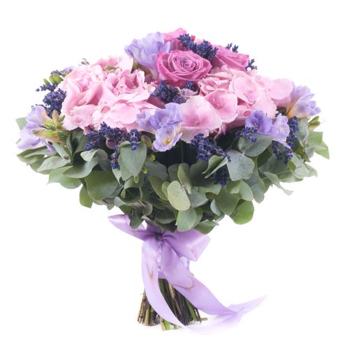 Elite ružová hortenzia s levanduľou