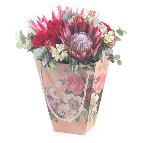 Flower bag protea