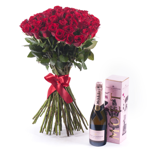 Amore červené ruže Moet Chandon