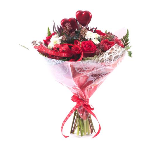 Sweet červené kvety srdiečka