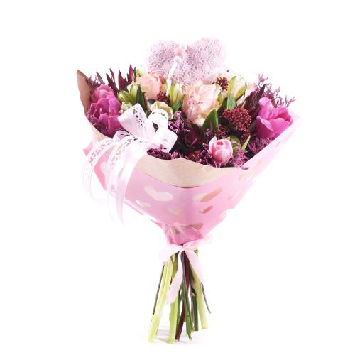 Sweet ružové kvety srdiečka