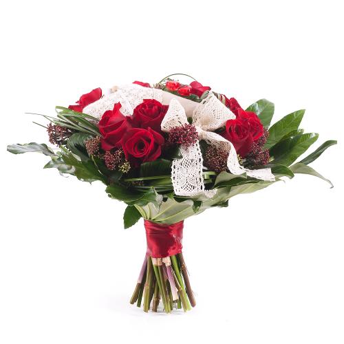 Elite červené ruže srdiečka
