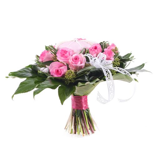 Elite ružové ruže srdiečka