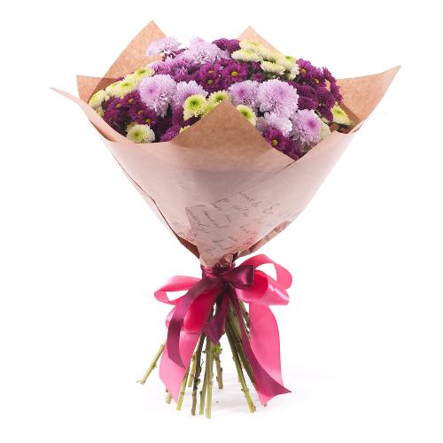 Sweet farebné chryzantémy santíny